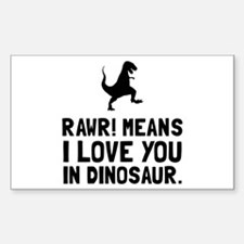 Rawr Love Dinosaur Decal