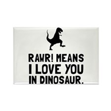 Rawr Love Dinosaur Magnets