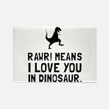 Rawr Love Dinosaur Magnets