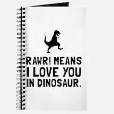 Rawr Love Dinosaur Journal