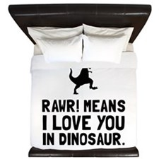 Rawr Love Dinosaur King Duvet