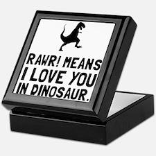 Rawr Love Dinosaur Keepsake Box
