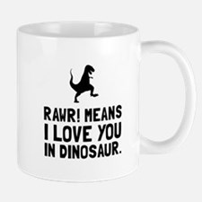 Rawr Love Dinosaur Mugs