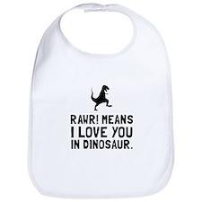 Rawr Love Dinosaur Bib