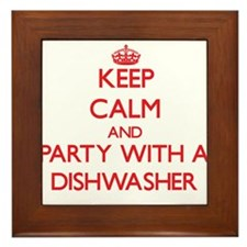 Keep Calm and Party With a Dishwasher Framed Tile