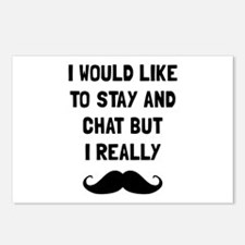 Really Moustache Postcards (Package of 8)