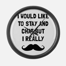 Really Moustache Large Wall Clock