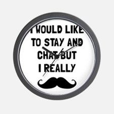 Really Moustache Wall Clock