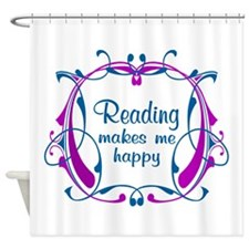 Reading Happiness Shower Curtain