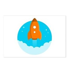 Round Rocket Postcards (Package of 8)