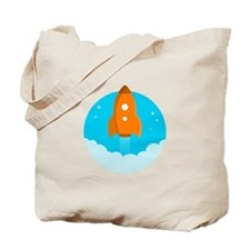 Round Rocket Tote Bag