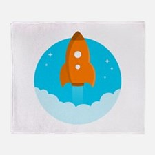 Round Rocket Throw Blanket