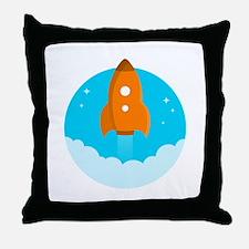 Round Rocket Throw Pillow