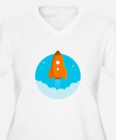 Round Rocket Plus Size T-Shirt