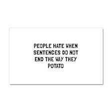 Sentences Potato Car Magnet 20 x 12