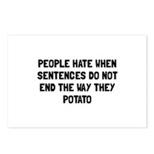 Sentences Potato Postcards (Package of 8)