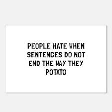 Sentences Potato Postcards (Package of 8)