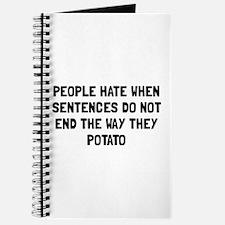Sentences Potato Journal