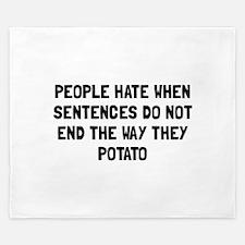 Sentences Potato King Duvet