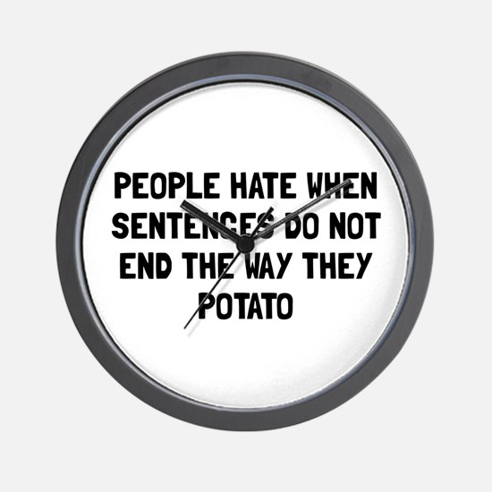 Sentences Potato Wall Clock