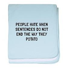 Sentences Potato baby blanket