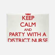 Keep Calm and Party With a District Nurse Magnets
