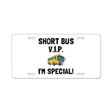 Short Bus VIP Aluminum License Plate