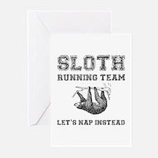 Sloth Running Team Greeting Cards