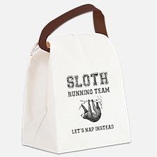 Sloth Running Team Canvas Lunch Bag