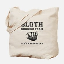 Sloth Running Team Tote Bag