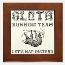 Sloth Running Team Framed Tile