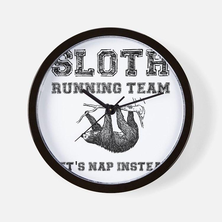 Sloth Running Team Wall Clock