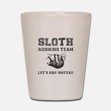 Sloth Running Team Shot Glass