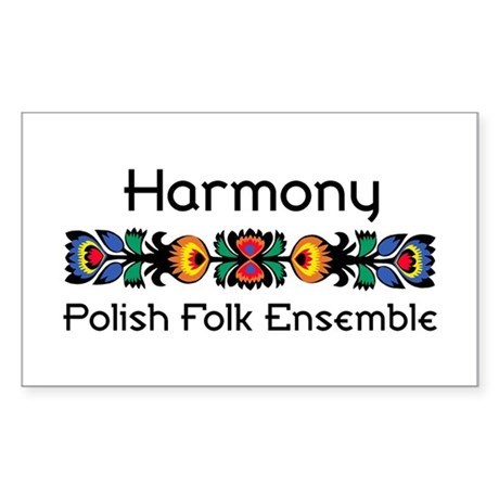 Harmony Polish Folk Ensemble Rectangle Sticker