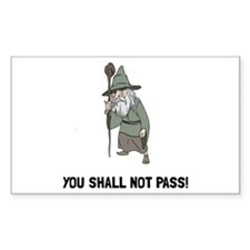 Wizard Shall Not Pass Decal