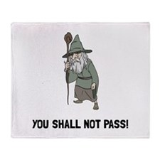 Wizard Shall Not Pass Throw Blanket