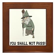 Wizard Shall Not Pass Framed Tile