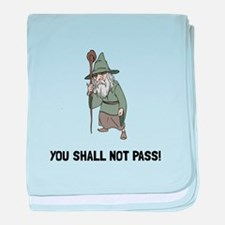 Wizard Shall Not Pass baby blanket