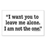 Leave Me Alone Rectangle Sticker