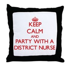 Keep Calm and Party With a District Nurse Throw Pi