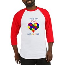 I love my Sons with Autism Baseball Jersey