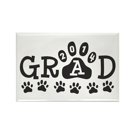 Grad 2014 Paws Rectangle Magnet