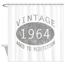 Vintage 1964 Birthday Shower Curtain