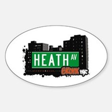 Heath Av, Bronx, NYC Oval Decal