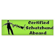 Certified Schutzhund... Sticker(Bumper)