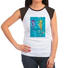 Seahorses T-shirt Women's Cap Sleeve T-Shirt