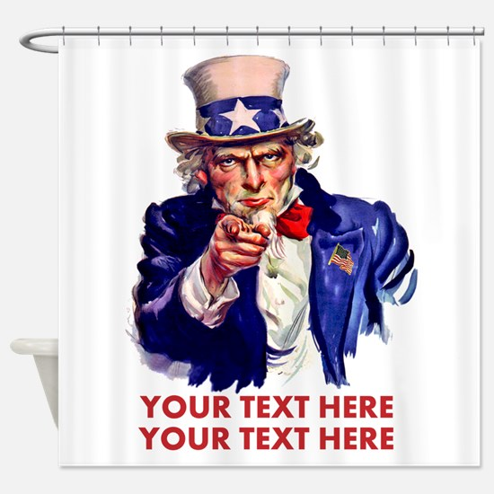 Personalize Uncle Sam Shower Curtain