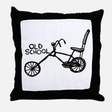 Old School Bike Throw Pillow