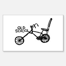 Old School Bike Decal