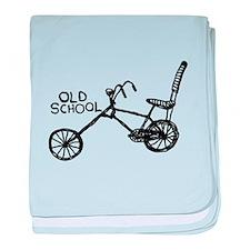Old School Bike baby blanket